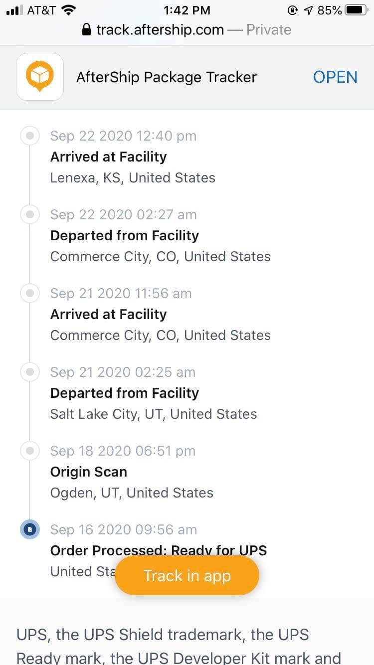 See the Last Place Your Package was Checked In
