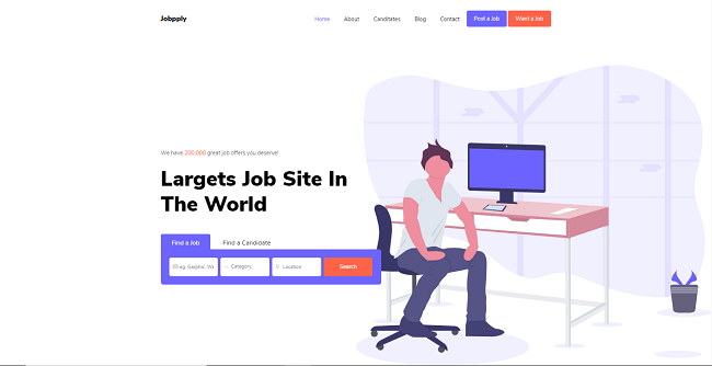 template web gratis jobpply