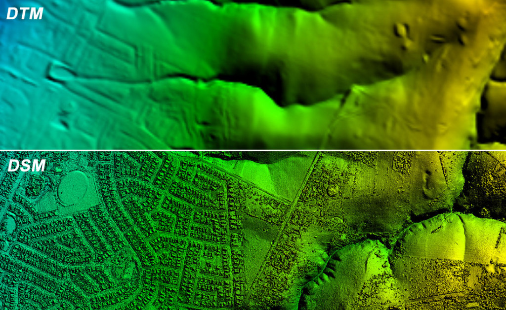 Digital Elevation Model (DEM) vs DTM