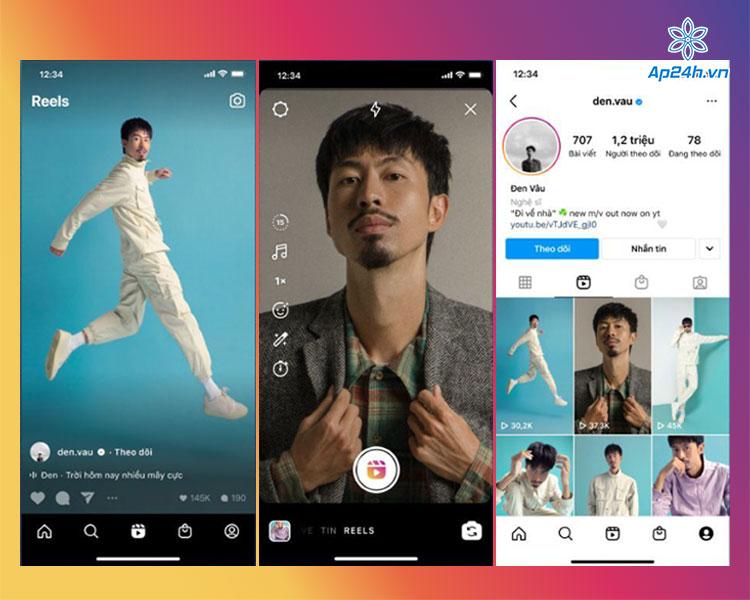 Tính năng Reels trên ứng dụng Instagram
