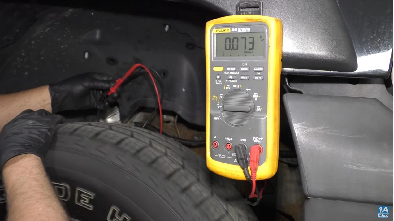Multimeter Test on ABS Speed Sensor After C0221 code