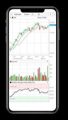 Screenshot of CIBC Investor's Edge Mobile Wealth app.