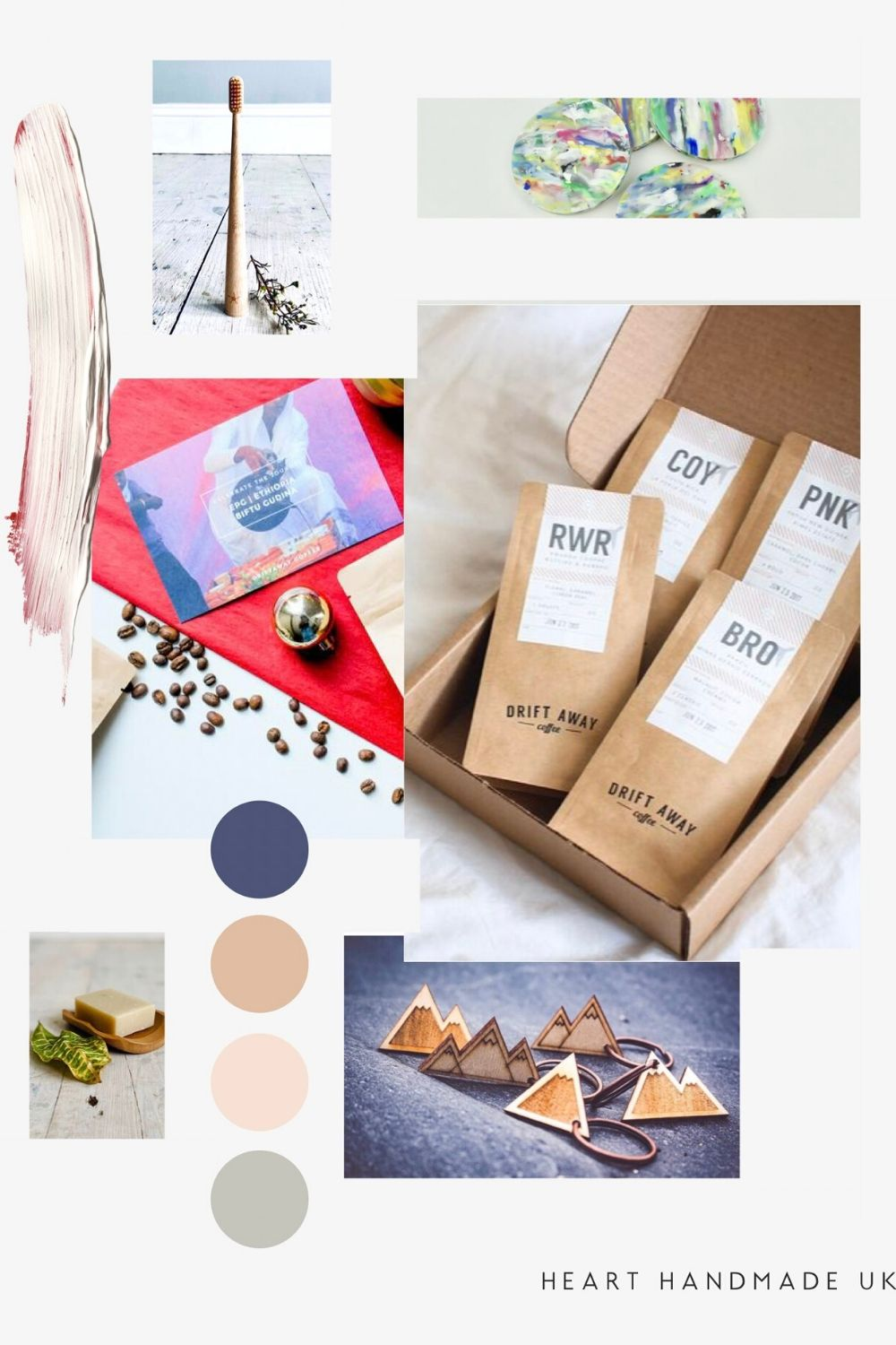 Eco friendly gifts - collage of ideas