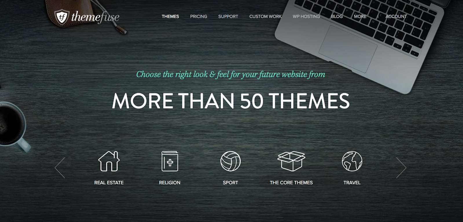 With more than 50 WordPress themes, ThemeFuse will have something for you.