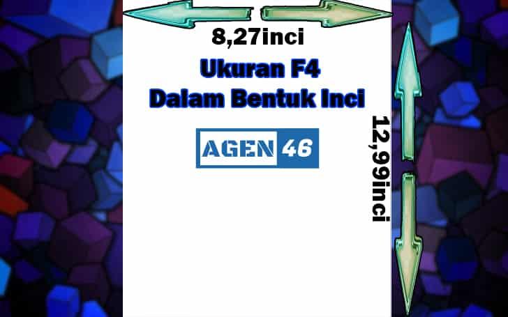 Ukuran F4 Dalam Bentuk Inci