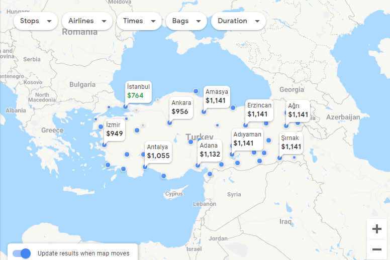 How to save money on Google Flights by using the explore map feature