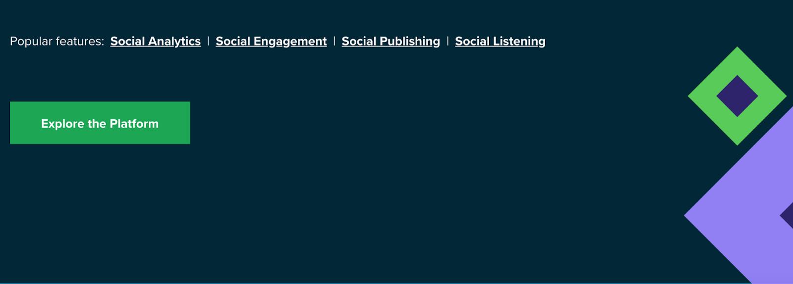 landing-page-essentials-sprout-social nutzt eine kontrastreiche CTA