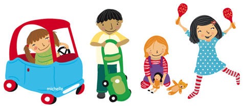 children at play clipart