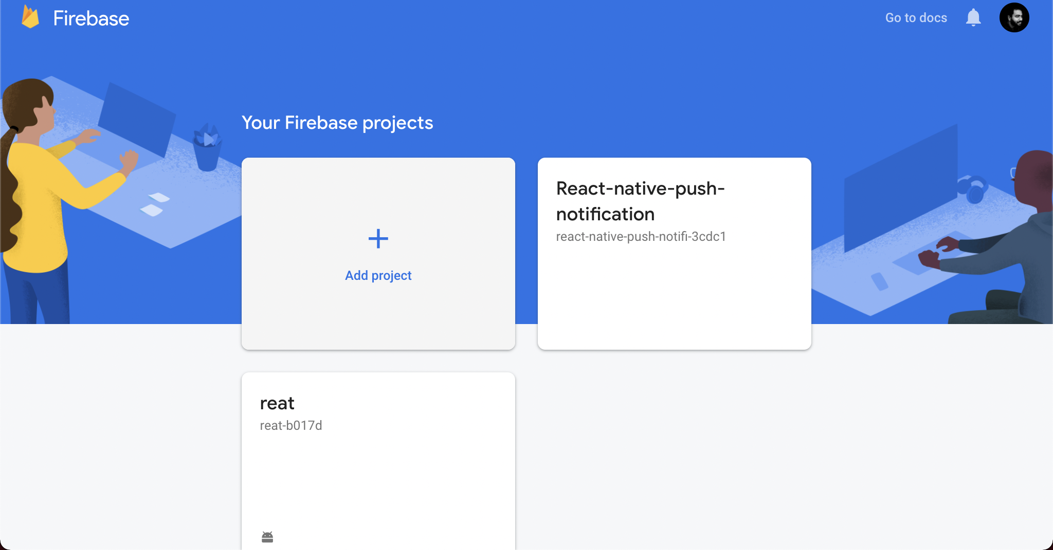 Create a Firebase project