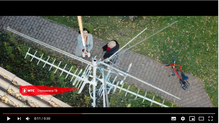 Кадр 2 из видеорекламы спутникового ТВ от МТС