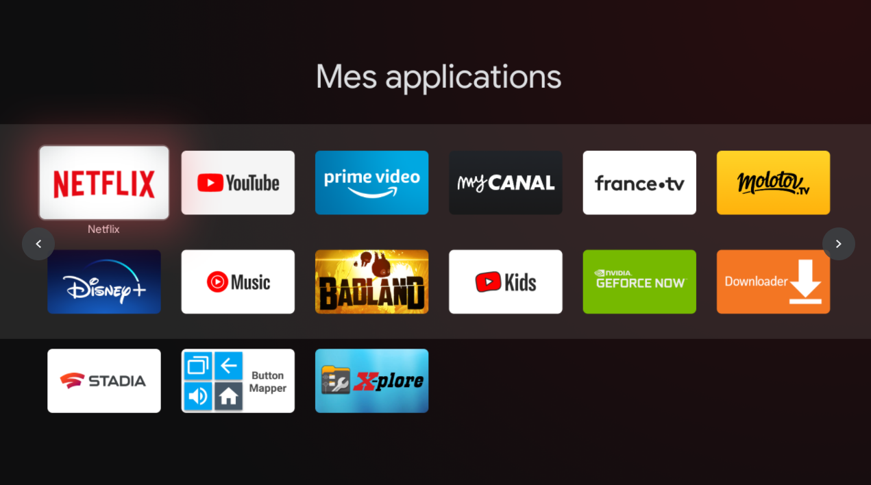 Mes applications Chromecast avec Google TV