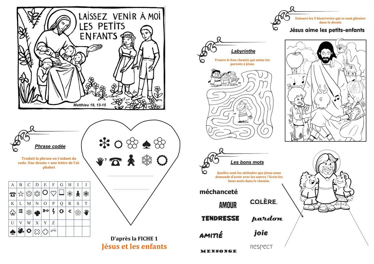 livret de jeux Jésus et les enfants