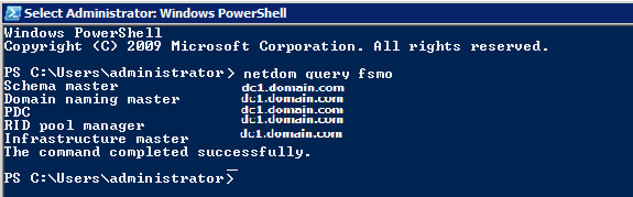 How to known / determine which servers are holds FSMO role?
