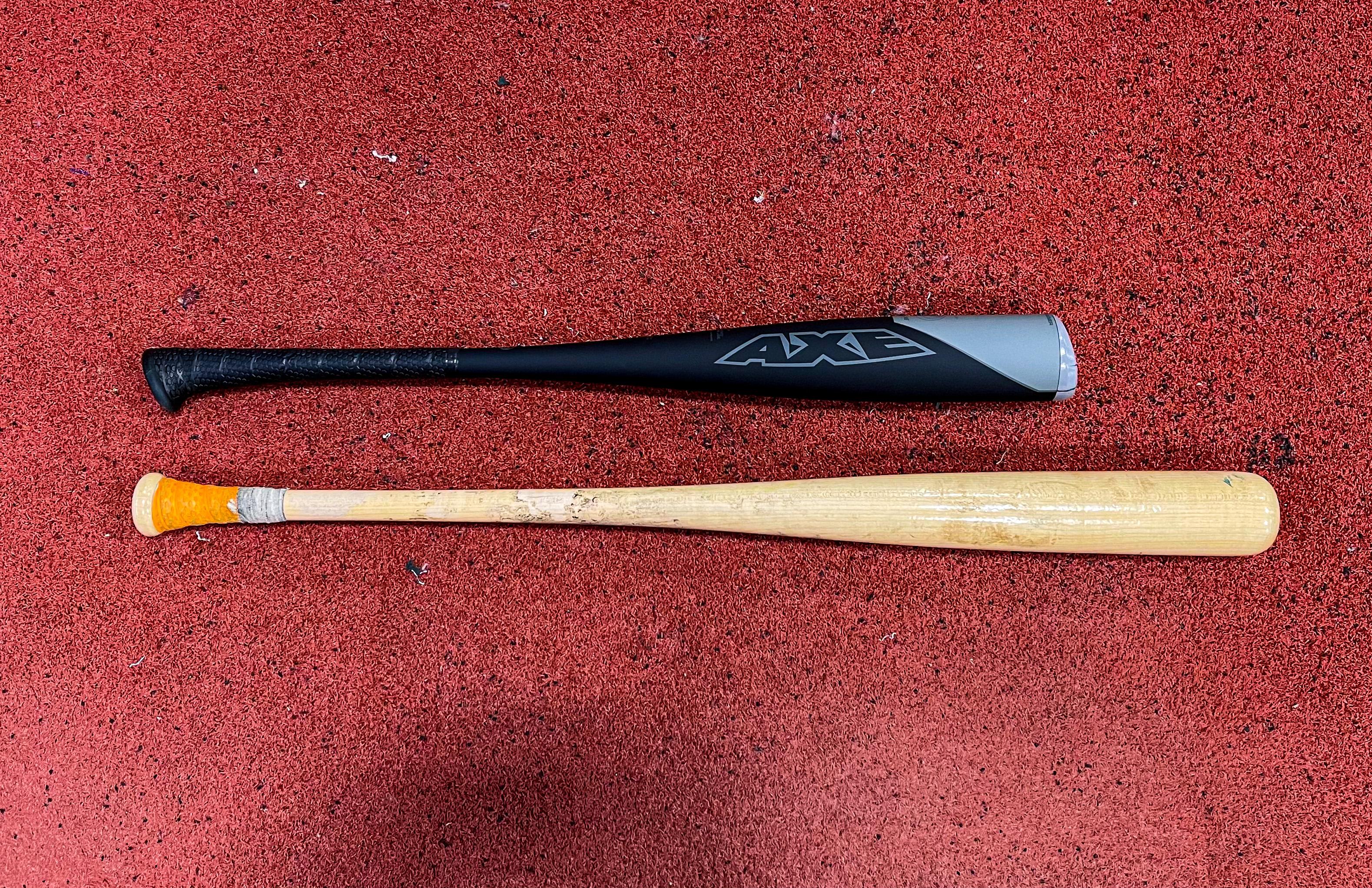 short trainer vs. real bat