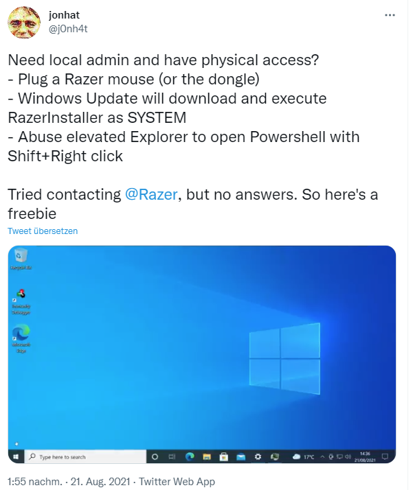 No need to become Windows 10 admin? As a razer bug lets you become one 2