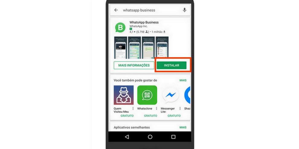 entre na Google Play e baixe o WhatsApp Business