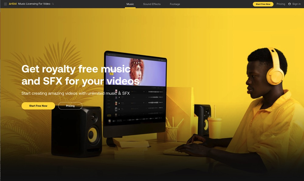 You'll have access to a massive music library for all your background music needs with Artlist
