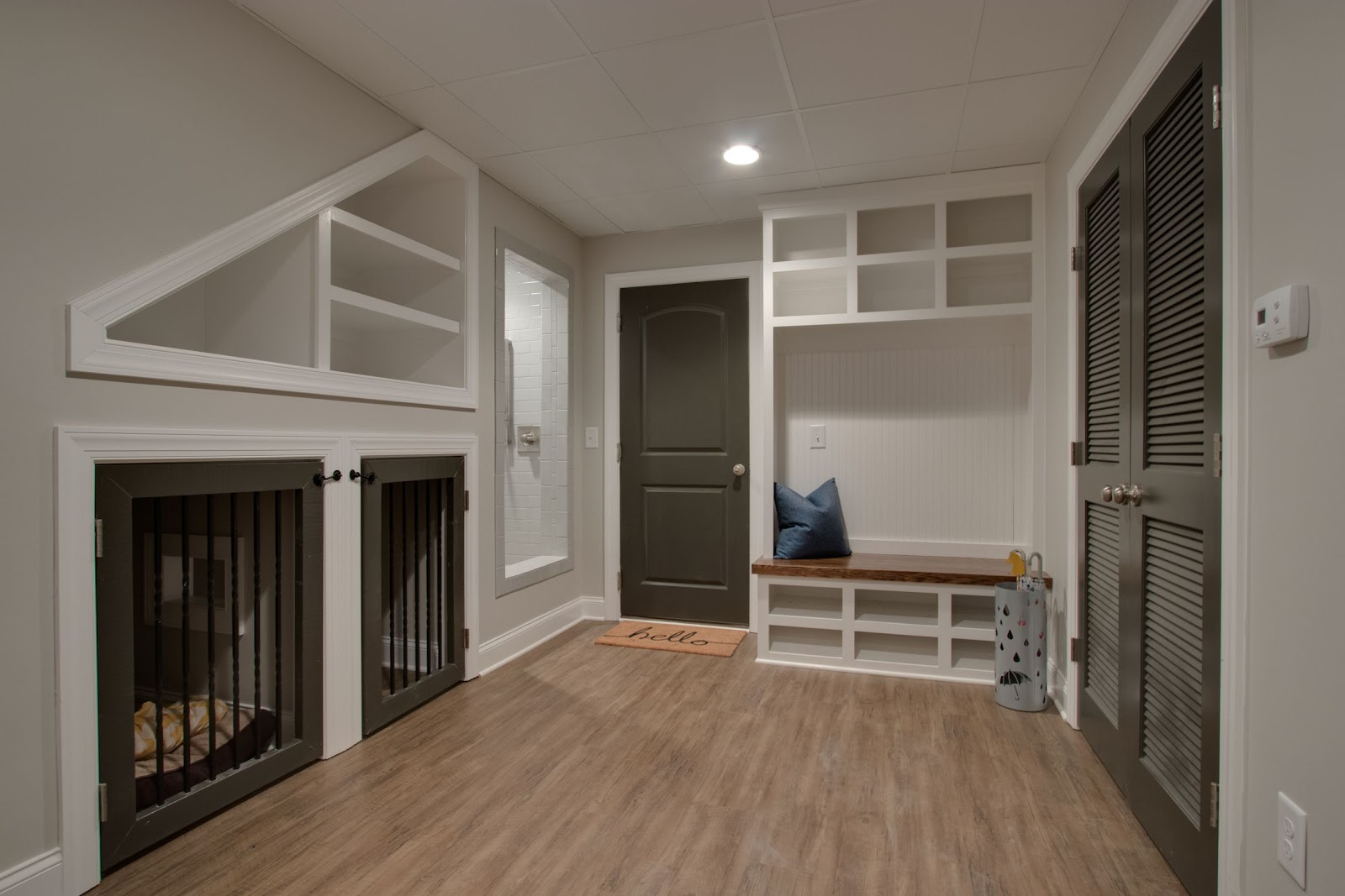 superior construction and design create a multi-functional space under stair dog kennels