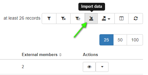 "select the ""import data"" button in GAT."