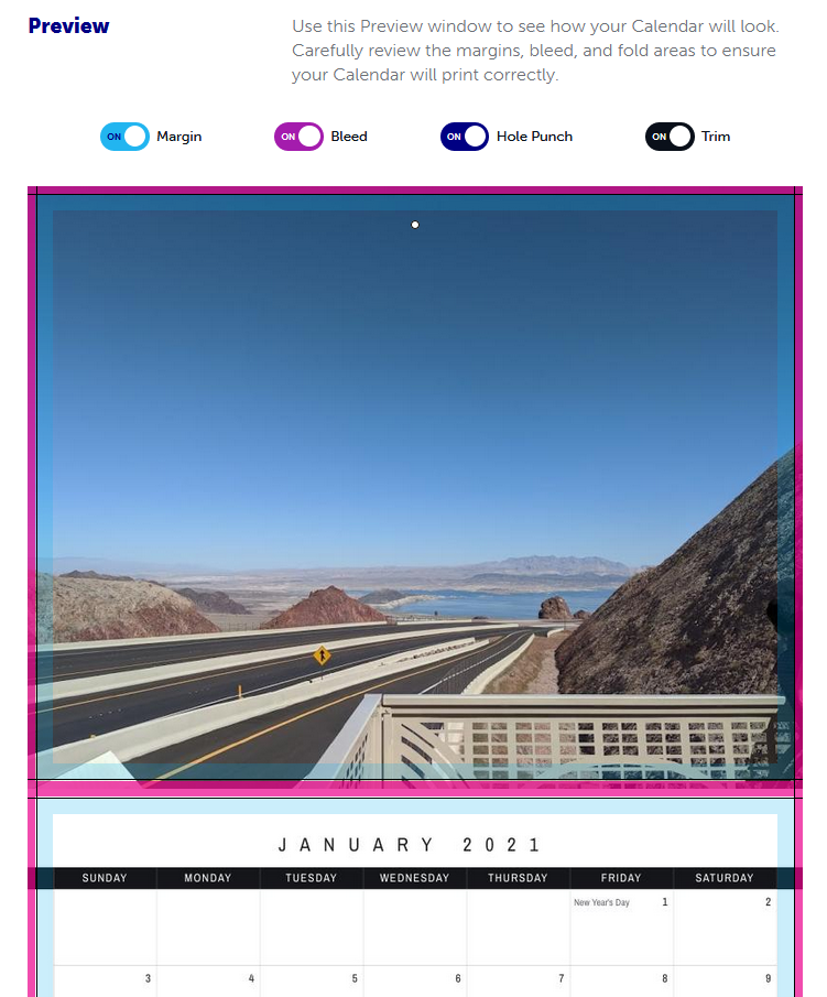 Calendar Creator preview