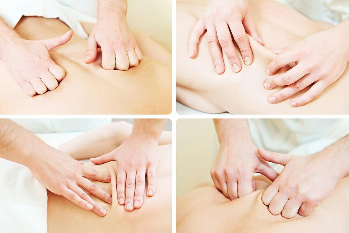Лечебный массаж позвоночника