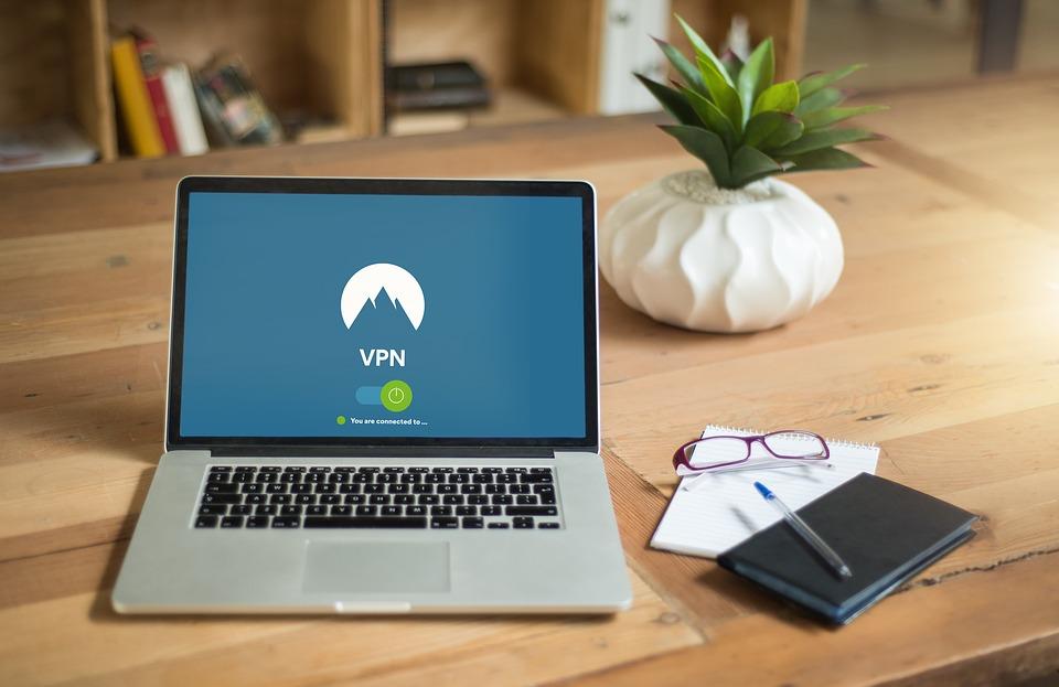 VPN enabled on a laptop