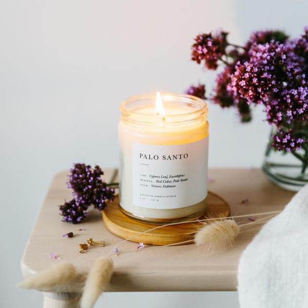 適用於居家空間,手工香氛蠟燭 木質調