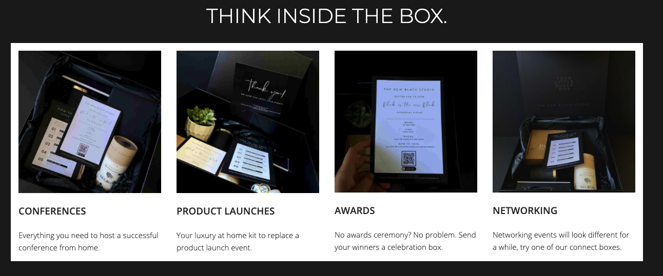 bespoke event in a box campaign
