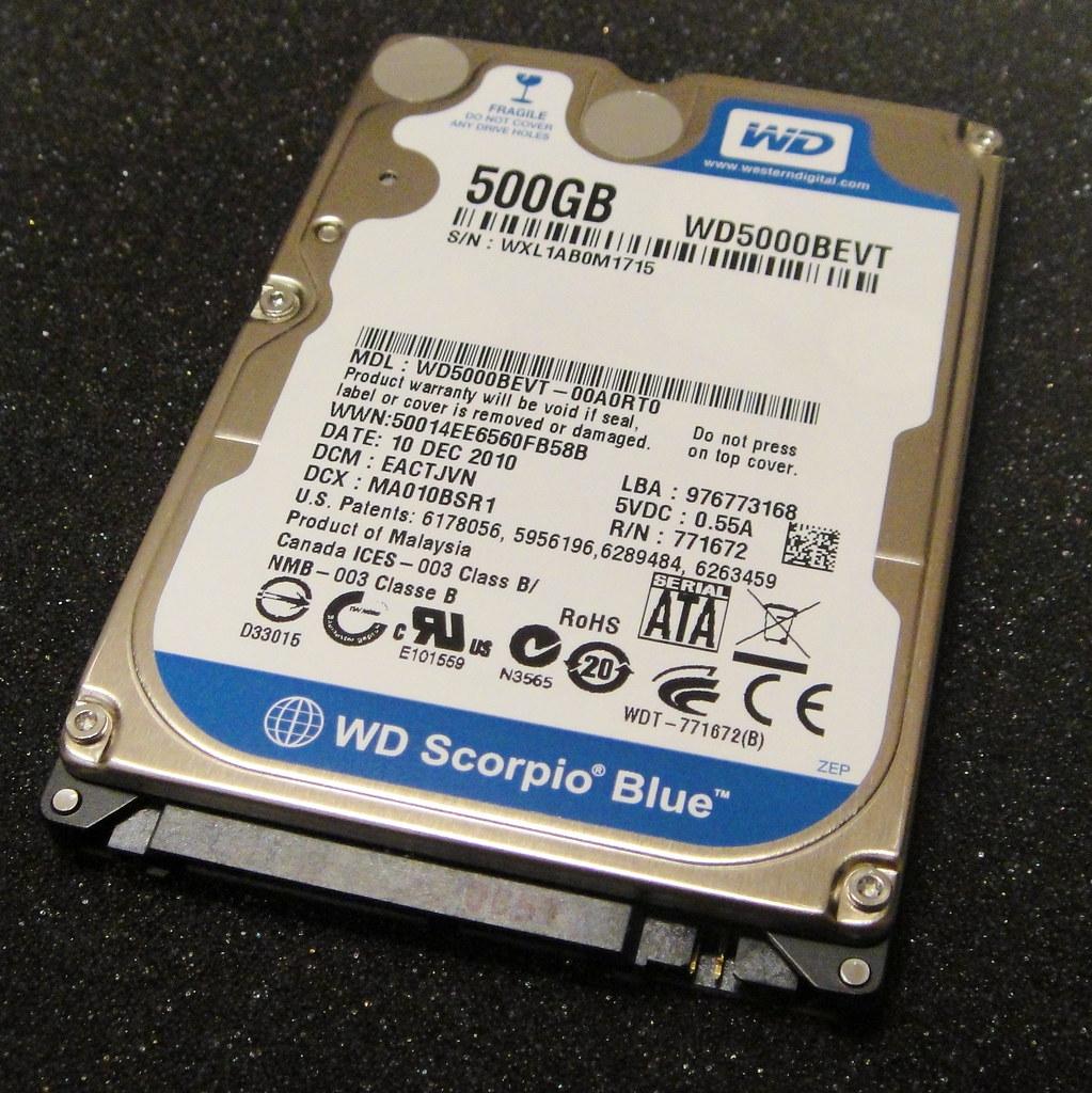 Western Digital Scorpio Blue internal HDD