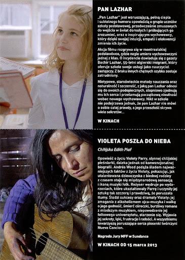 Tył ulotki filmu 'Pan Lazhar'
