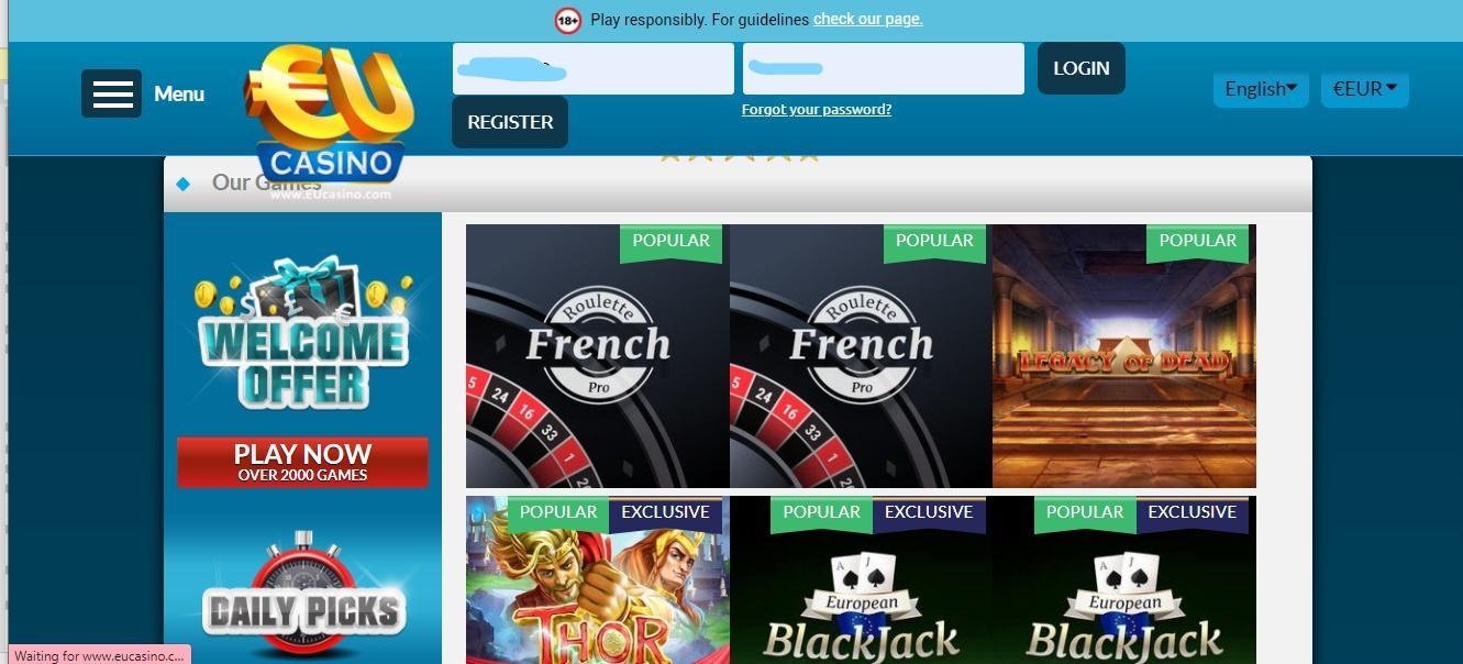 Betting on EUcasino