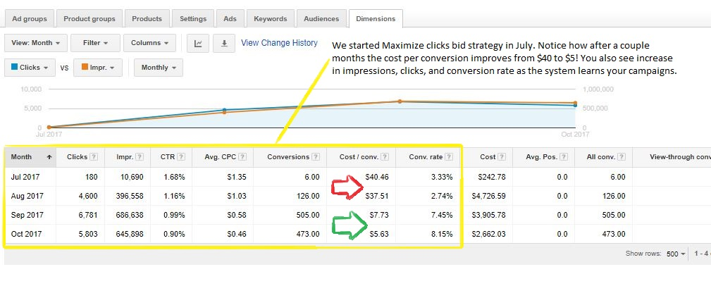 Using Automated Bid Strategies   ConversionGIANT com