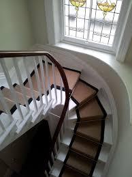 Jute trappe tæppe runner sort linned grænse