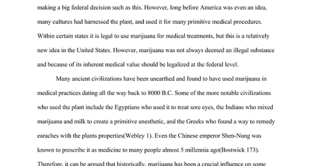 an essay on marijuana and the proposed legalization 9 november 2012 memorandum to ms holifield from: richard braxton subject: research report on the legalization of marijuana this research proposal will contain five sections, introduction, current situation, project plan, qualifications, and.