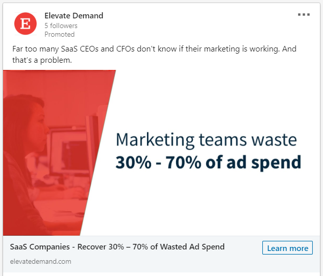LinkedIn Post with Image That Calls Out Audience