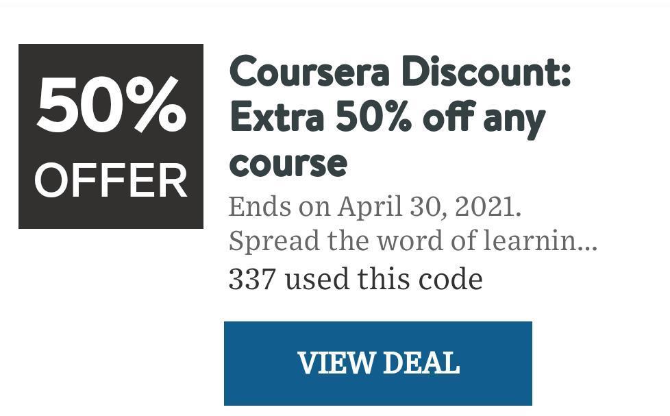 discount marketing idea of coursera