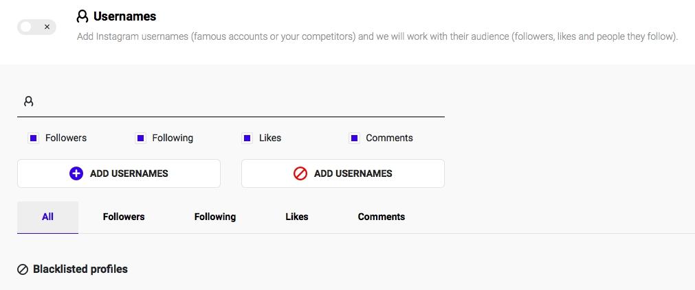 Ingramer settings for Instagram promotion 15