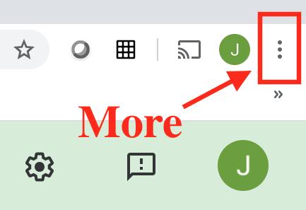 google chrome more button