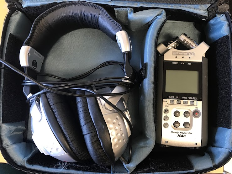 Audio Kit contains: Headphones, Zoom Recorder, Memory Card (at least 4GB)