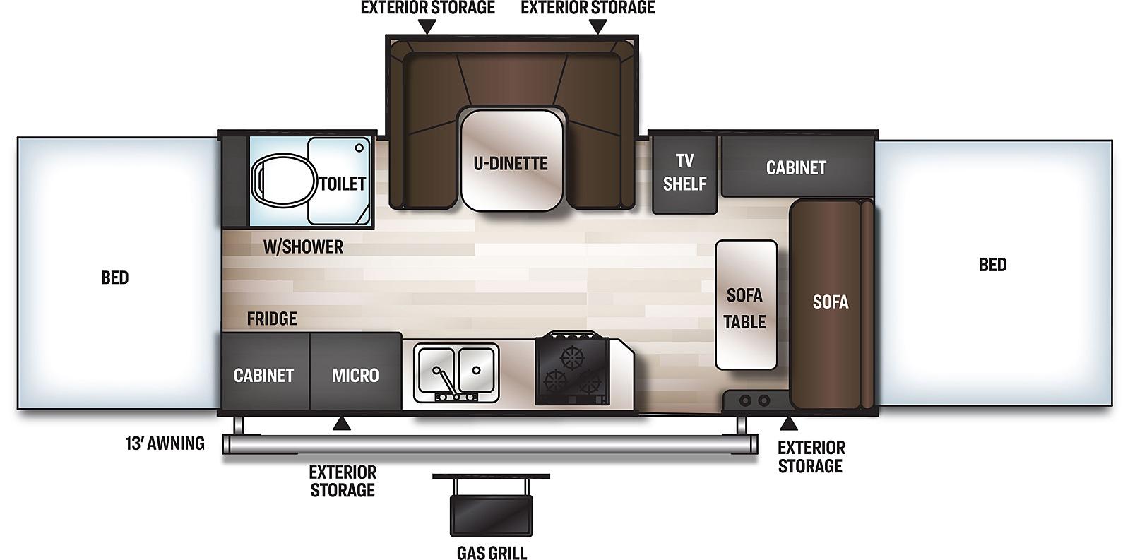 floor plan for forest river rockwood pop up