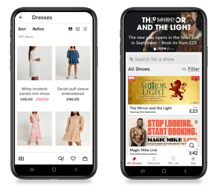 Examples of successful ecommerce apps
