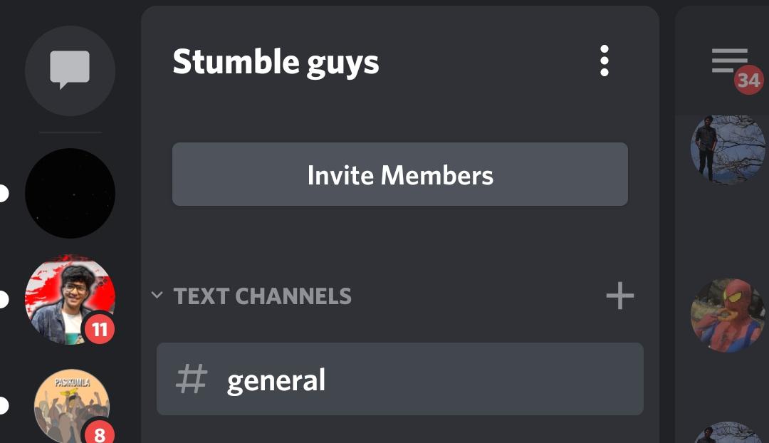 The three dots menu next to the server name