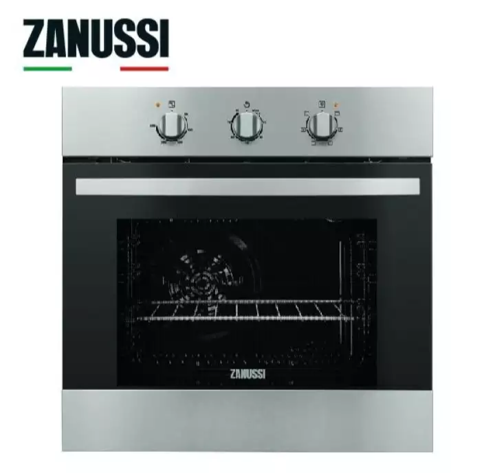 Zanussi 6 Cooking Functions Built-in Oven 56L with hot air ZOB22669XK. Source: Lazada