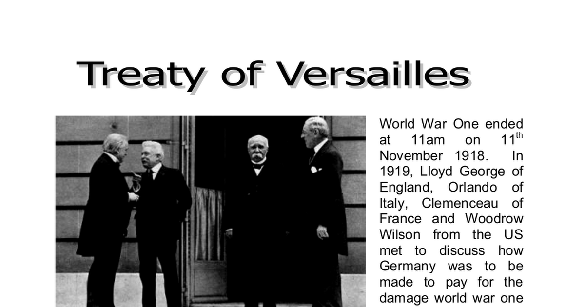 treaty of versailles igcse notes A)which terms of the peace settlement of 1919 directly affected france -france gained territory such as alsace lorraine and the saarland (which were.