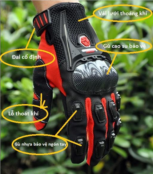 Một số thành phần chính của chiếc găng tay cho dân phượt