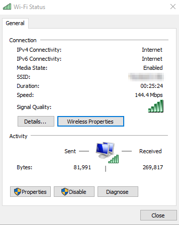 Find Network Security Key on Windows 10. Network and Sharing Center > Wi-Fi Status. Source: nudesystems.com