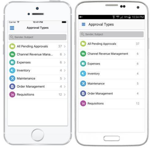 Aprovações móveis para EBS 1.4 para EBS 12.1.3 e 12.2 e estão disponíveis para iOS e Android