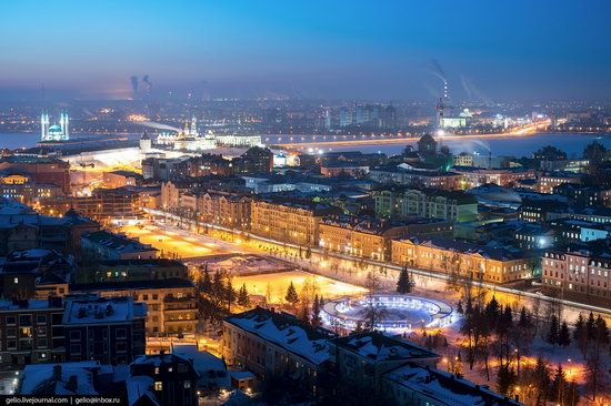 Winter in Kazan, Russia - the view from above, photo 13