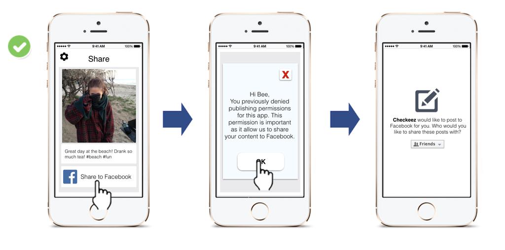 如果用戶拒絕授權,您可以在對方顯露出授權意圖後再次給予提示。