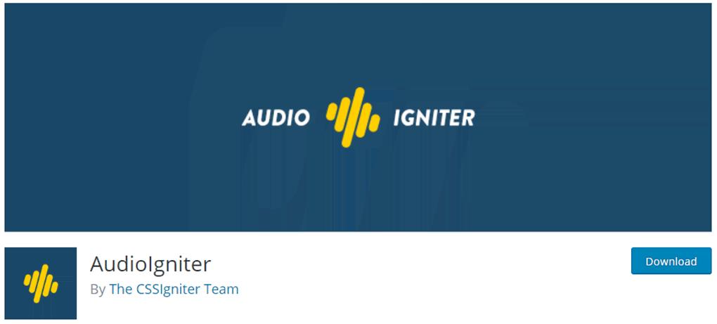 plugin audio igniter de reprodução de audio no wordpress